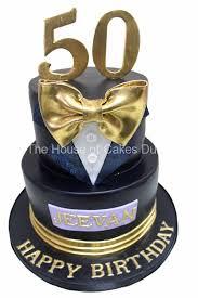 Classy Tuxedo 50th Birthday Cake For Men