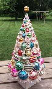 Old Fashioned Christmas Tree Light Bulbs 24 Inch Bottle Brush Christmas Tree Bottle Brush Christmas