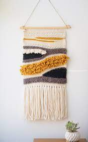 I stopped whatever, less important, thing i was. How To Make Your Own Woven Crochet Wall Hanging One Dog Woof