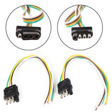 2trailer light wiring harness extension 4 pin plug 18 awg flat wire image is loading 2trailer light wiring harness extension 4 pin plug