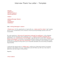 Interview Thank You Letter In Word And Pdf Formats