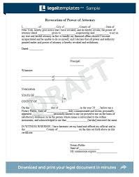 Letter For Power Of Attorney Revocation Of Power Attorney Sample For More Information On