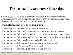 Social Work Internship Cover Letter Top 10 Social Work Cover Letter Tips