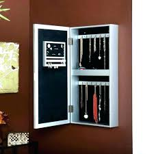 wall mount jewelry armoire mirror. Hanging Mirror Jewelry Armoire Wall Mounted Cabinet With Mount