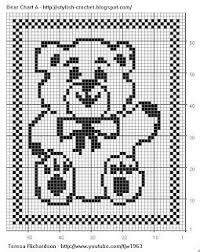 Crochet Pattern Charts Free Free Filet Crochet Charts And Patterns Filet Crochet Bear