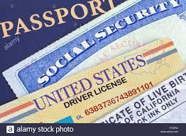 USA Reisepass mit Social Security Card ...