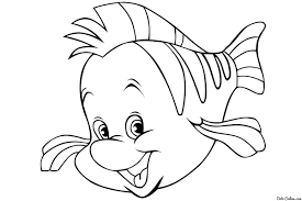 Small Picture Flounder Coloring Pages With glumme