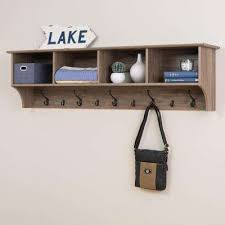 Wooden Coat Rack With Shelf Beauteous WallMounted Coat Racks Entryway Furniture The Home Depot