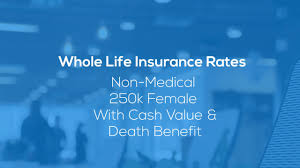 Whole Life Insurance Price Chart Whole Life Insurance Rates Charts Prices 2019