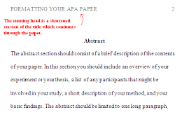 Sample apa research paper running head