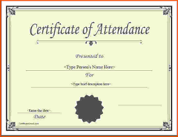 Resume Responsibilities Sample Certificate Attendance Workshop