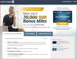 chase united airlines 50 000 mile bonus for business card