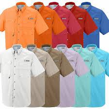 Columbia Fishing Shirt Size Chart Columbia Mens Size S M L Xl 2xl 3xl Short Sleeve Bonehead Fishing Shirts 7130 Ebay