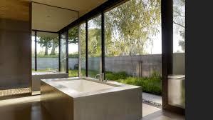 bathroom modern outdoor bathroom shower design with rectangle white bathtub and glass sliding door ideas