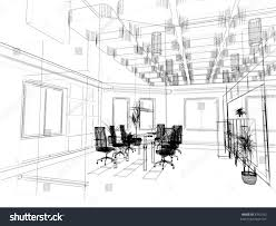 design office interior. Interior Design Office Sketches. The Modern Sketch (3d Render) Sketches L