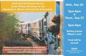 study abroad scholarship essay writing workshop msu event study abroad gilman essay writing workshop