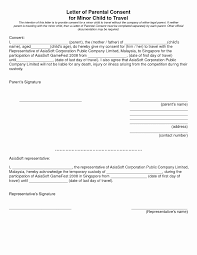 Parent Consent Letter For Travel Template Collection Letter