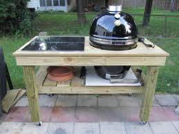 diy grilling carts brilliant weber grill table plans of image design ideas