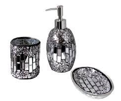 Black Bathroom Accessories Black And Silver Bathroom Accessories Sinatra Silver Bling Bath