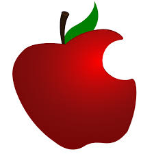 green and red apples clipart. bitten green apple clipart and red apples