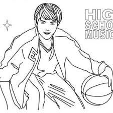 Small Picture school musical coloring pages