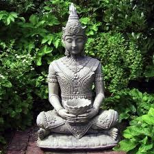 buddha garden statue. Contemporary Garden Serene Buddha Garden Statue To B