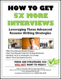 free download get 5x more interviews using these advanced resume writing strategies how to get resume