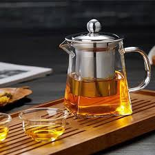 details about 350ml 900ml heat resistant clear glass teapot with infuser oolong tea pot