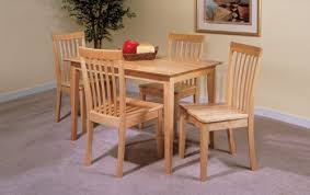 com 5 pc set natural solid pine wood dining room kitchen intended for table idea 1