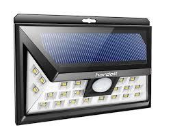 hardoll 24 led solar motion sensor light for home garden outdoor