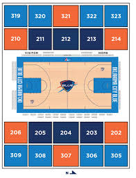 Thunder Game Seating Chart Single Game Ticket Information Oklahoma City Blue