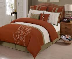 rust colored comforter sets. modren comforter rust color bedding 8piece comforter set in queen in colored sets wizzley