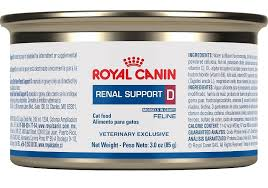 low protein cat food. Royal Canin Veterinary Diet Feline Renal Support D Canned Cat Food Low Protein N
