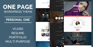 Personal One Onepage Vcard Wordpress Theme Free Preview Download