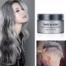 Us 571 24 Offsalon Hair Styling Pommade Zilver As Oma Grijs Haar Kleur Wassen Tijdelijke Wegwerp Haarverf Kleuren Modder Crème Vrouwen Mannen In