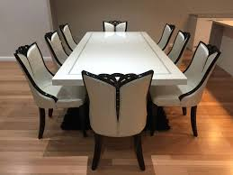 white dining table for 8 large round glass dining table seats 8