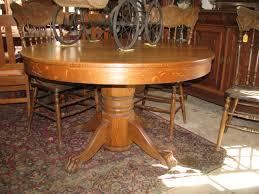 circa 1900 round oak table 48 pedestal base 895 00