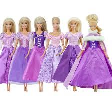 Tím Phụ Kiện Búp Bê Cổ Điển Truyện Cổ Tích Đầm Sao Chép Công Chúa Bầu Trang  Phục Hóa Trang Quần Áo Cho Búp Bê Barbie Cô Gái Đồ Chơi
