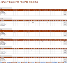 Tracking Tools In Excel Employee Absence Tracking Excel Template
