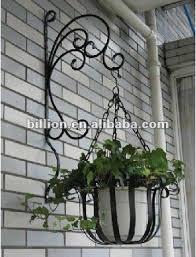 decorative wrought iron flower pot
