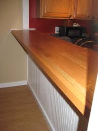 Wood Bar Top Diy Bar Top Made With Plywood Oak Hardwood Flooring Nail Gun