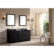 Ace 73 inch Transitional Double Sink Bathroom Vanity Set Black ...
