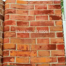modern style red bricks wallpaper wall wallpapers square meter per roll paper room decor brick bm red brick wallpaper