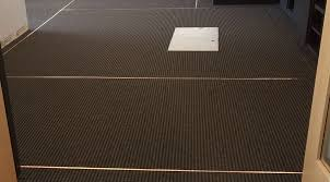 installing copper foil full perimeter ground for esd l and stick tile