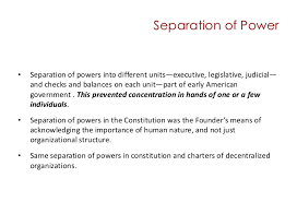 federalism and the distribution of power and authority separation of power<br