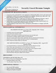 Security Guard Resume Examples Elegant Examples Of Summary