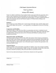 Child Custody Letter Sample Child Support Agreement Template Child Support Children