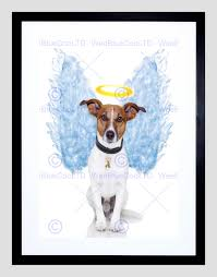 angel wings jack rus dog halo black frame