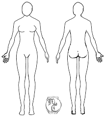 female body outline template human body template female by myraethcorax drawings pinterest