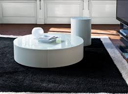 round coffee table with storage drawers
